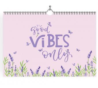 Planner Mensual de escritorio good vibes